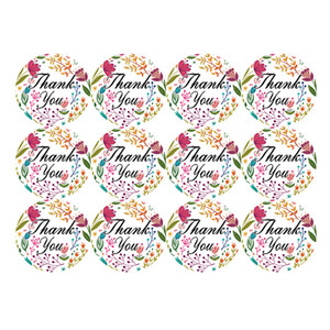 Gift Sealing Stickers Thank you Love Design Diary Scrapbooking Stickers Festival Birthday Party Gift Decorations Labels