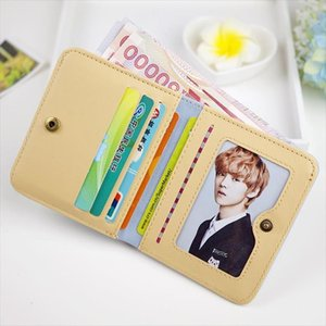 2020 new Women Clutch casual PU Leather Wallets Female mini short Coin Purses bag girls Lady credit Cards Holder money wallet