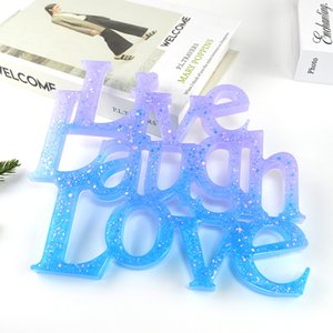 New DIY Coaster mold silicone resin drop molds ornaments love words combination love letters English Craft Tools 9037