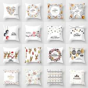 45cm x 45cm Christmas Pillow Case for Home Decor Office Cushion Cases Sofa Cover Holiday Decoration Pillowcase Indoor Decor Party Supplies