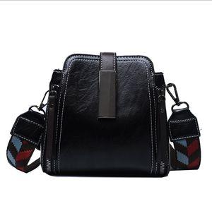 2021 Women Shoulder Handbag Handle Crossbody Bag Clutch Bag Fashion Canvas Strap Casual Square PU Leather Female Ladies Bucket