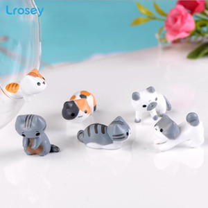 Meng cat creative ornaments micro landscape resin crafts simulation animal gifts family decoration crafts Figurines Miniatures