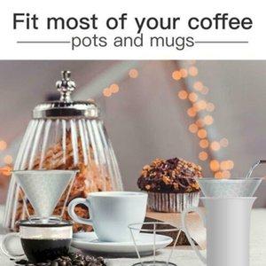 Dripper Coffee Funnel Acero inoxidable Vierta sobre el colador de la malla Duradero práctico