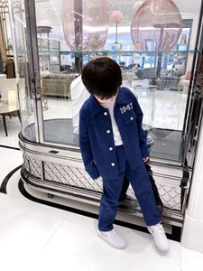 New Kids Set Spring Autumn Children Suit Jeans Tops Casual Jacket With Pants Tracksuit Teenage boys Girl Set Denim Clothing