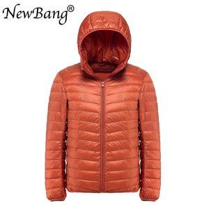 NewBang Plus 11XL 10XL 9XL Men's Down Jacket Ultra Light Down Jacket Men Windbreaker Feather Parka Man Winter Large Size Outwear 201120