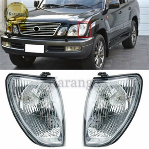 2pcs Front Bumper Turn Signal Light Corner Lamp No-Bulb Car Accessories 81620-60200 For Lexus LX470 Series 1998-2002