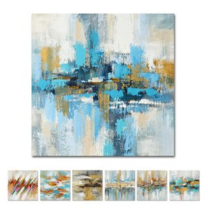 Abstract Oil Painting 100% Handpainted Colorful Landscape Art Picture On Canvas For Home Decor Modern Abstract Wall Art Painting Z1202