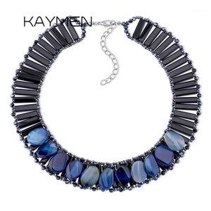 Kaymen Fashion Luxury Bohemian Crystals à la main Collier de déclaration pour la fête de mariage Perles Femmes Perles Collier de rubil 8 Color1