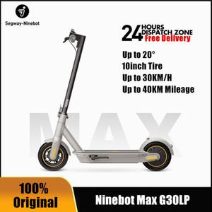 EU 주식 2020 원래 킥 스콧 30km / h Ninebot Max G30LP 전기 스쿠터 Ninebot App Dual Brake Patinete Eletrico 10inch