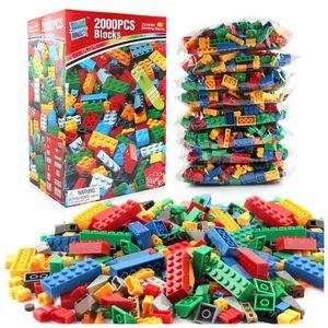 250Pcs-2000Pcs City DIY Designer Creative Building Blocks Bulk Sets Classic Brinquedos Bricks Friends Kids Toys Storage Box J1202