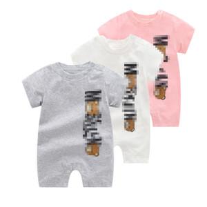 Pagliaccetti di alta qualità Pagliaccetti Estate Baby Boy Girl Abbigliamento Neonato Neonato Manica Corta Vestiti dei bambini sottili