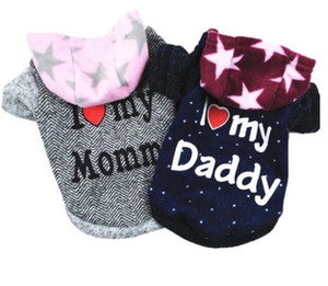 Pet Dog Hoodie Coat Soft Fleece Warm Puppy Clothes Letter Printed Dog Sweatshirt Cute Dog Clothes For Small Dogs Pug Pet Outfits