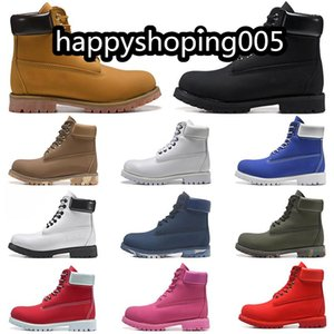 Invierno Moda para hombre Botas de nieve Marca Botas para hombre Botas de cuero Impermeable Zapatos para hombres al aire libre Zapatos de senderismo de cuero Botas de tobillo informales