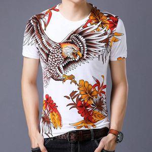 Mens Stylist T Shirt Men Women 3D holy dragon god tiger goshawk bird Loose Crew Neck Streetwear Short Sleeve Size S-4XL