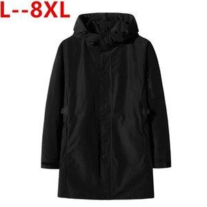Jaquetas dos homens 8xl 6xl 5xl homens jaqueta de inverno Mens moda moda trench casaco camisola slim manga longa cardigan casacos quente masculino outwea