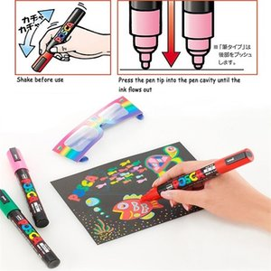 Mitsubishi UNI Posca PC-1M Marker Extra Fine Bullet Tip 0.7mm Water Resistance Paint Writing Pen for Advertising,Poster,POP,CD 201212