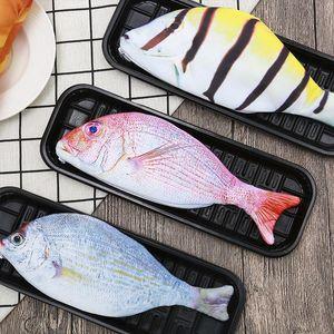 물고기 펜 가방 성격 모방 물고기 모양 연필 케이스 크리 에이 티브 oloth 연필 가방 학교 학생 편지지 펜 가방 바다 선박 BWB4701