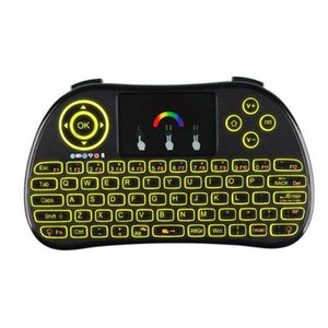 New Arrival P9 2.4GHz Wireless Rainbow Backlight Keyboard with Touchpad Fly Air Mouse Remote Control Game Handhold for Laptop Android Boxes