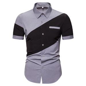 Summer Mens Designer Polos Fashion manica corta collo collo pannelli allentati uomo tees casual maschi abbigliamento