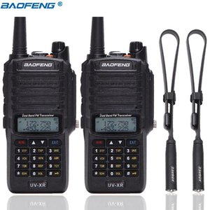 2 PCS Baofeng UV-XR Walkie Talkie 10W High Power 4800mAh WaterProof Dual Band Portable Two Way Radio add Tactical Antenna