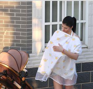 Mère Nourrir Maternité sein Soins infirmiers Tapis bébé bébé coton extérieur Covers Tablier Châle Anti-Vidé allaitement Couverture écharpe serviette