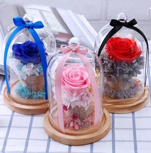 New immortal flower glass box DIY rose dried flower Chinese Valentine's Day birthday gift mother's Day gift