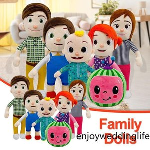 Cute 15-33cm Cocomelon Plush Toy Soft Cartoon Family Cocomelon Jj Family Sister Brother Mom And Dad Toy Dall Kids Festival Gifts FY7339