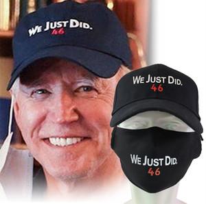 Embroidery Joe Biden WE JUST DID 46 Baseball Ball Hat with Mask Button Caps Snapbacks President Biden Face Masks Unisex Sport Hats E112404