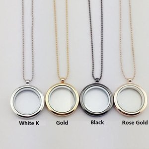 30mm Floating Heart Charms For Open Locket Necklaces Pendant DIY Jewelry Transparent Glass Frames Floating Charm Memory Lockets Pendants