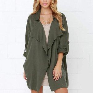 Frauen Designer Kleidung 2021 Trench Frauen Herbst Neue Ankünfte Mode Lässig Massive Farbe Daunen Kragen Jacke Mantel