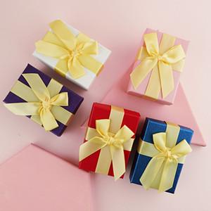 Бумажная помада подарочная коробка ювелирные изделия помада магазин подарочной коробке с большим бантом Валентина на день рождения подарок на день рождения губы обертывания