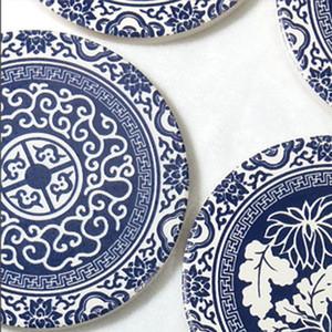 Ceramica assorbente Coaster Home Pranzo Tappetino da pranzo addensato Tavolo da pranzo antiscivolo Coaster Round Coaster Creativo Coppa Coppa in ceramica Mat GWE3571