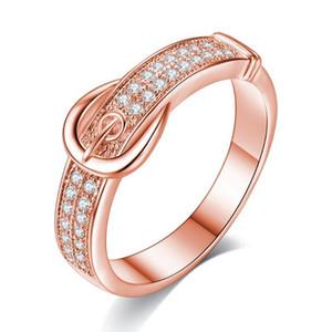 Anelli creativi in oro rosa / cintura bianca per donne