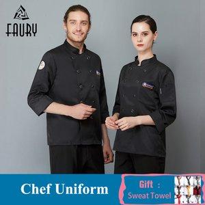 Vêtements de haute qualité Sushi à double boutonnage Cuisine Catériel Catering Hotel Restaurant Cuisine Chemise Chef Jassen Vente en gros