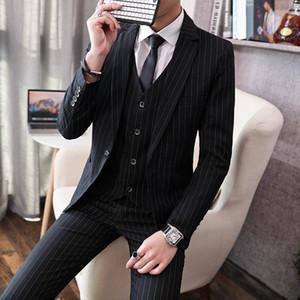New men's casual suit suit men's three piece youth handsome Korean slim bridegroom wedding dress