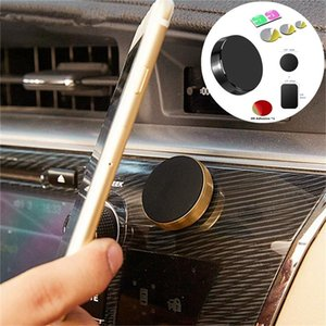 Magnet Mobile Phone Car Mount Holder Circle Support Bracket With Black Metal Plate Stick To Wall Stand For Huawei