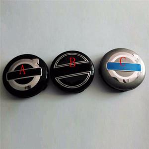 سيارة أنيقة 50 قطع 64 ملليمتر الأسود الرمادي سيارة عجلة مركز قبعات محور غطاء الحافات غطاء شعار شارة صالح ل S60 S80L XC60،3546923 سيارة التصميم