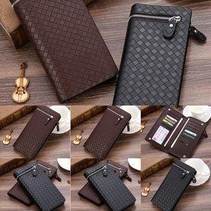 rCpwallet fashion single zipper pocke lady women leather wallet men ladies long purse with wallet card
