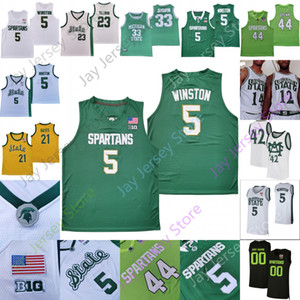 Michigan State Spartans Basket Blayball Jersey NCAA College Johnson Randolph Richardson Green Foster Loyer Aaron Henry Thomas Kithier Marble II