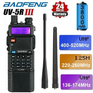 BAOFENG UV-5R III Tri-Band 5W 3800mAh Walkie Talkie Long Range Two Way Ham Radio + Earpiece1