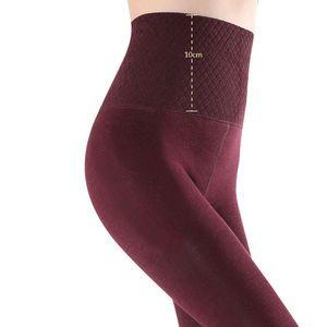 ZJX Winter Women Leggings pantaloni caldi 10cm vita alta addensare ad alta elasticità calda calda termica termica termica smalto temmo spessore 201103