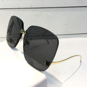 Luxury-0352 Designer Sunglasses For Women Fashion Wrap Sunglass Frameless Coating Mirror Lens Carbon Fiber Legs Summer Style top quality