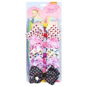 INS 4.5inch jojo siwa bows girls hair clips 6pcs set LOVE bowknot girls barrettes baby BB clips baby girl hair bows hair accessories B2878