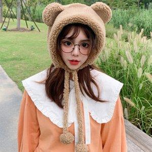 2020 New Cute Cartoon, Plush, Photo Prop, Bear, Korean Version, Meng Mei, Autumn and Winter Warm Hat