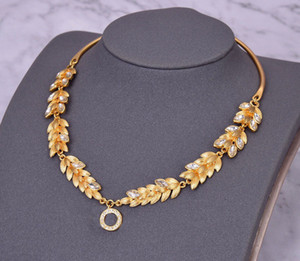 Fashion GOLD CZ necklace for lady Women Party Wedding Lovers gift engagement Jewelry for Bride