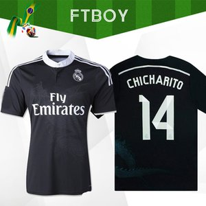 BENZEMA ISCO 2014 2015 Real Madrid Retro Fútbol Jersey 14 15 Vintage Camisa de fútbol negro Maillots de Fútbol