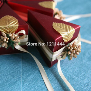 2020New Paper Flower Decorative Sandwish Cake Shape Promotional Gift Box Wedding Birthday Party Invitations Decoration