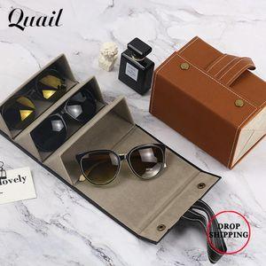 2021 NEW Multi-Function Portable Glasses Jewelry Storage Organizer Leather Multiple Slot Eyeglasses Sunglasses Storage Case Box