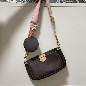 Hotselling 3 مجموعة حقائب حقائب متعددة pochette أكياس النساء 1 حقيبة حقيقية قطعة 3 المحافظ سيدة حقيبة جلد عملة محفظة حمل في crossb kwbo