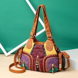 Women Bags Vintage Soft PU Casual Travel Bags Black Fashion Large Handbags Ladies Spring Summer Autumn Winter 2020